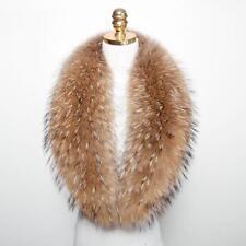 "100cm/39""inch Men Real Raccoon Fur Collar Scarf/Shawl/Wrap Neck Warmer US Stock"
