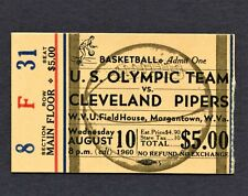1960 USA OLYMPIC BASKETBALL TEAM TICKET TUNE UP GAME JERRY WEST LUCAS OSCAR R.