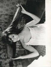 CLAUDIA CARDINALE rare Vintage Original Photo w snipe 1961 in Nightgown at home