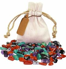 Electromagnetic Pollution Power Pouch Healing Crystals Set Natural Gemstones