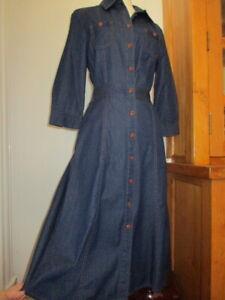 morrissey denim button down dress 1  cotton NWT