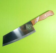 "KOM KOM Cook Knife Chef Knives Wood Handle Kitchen Blade 7.5"" Stainless Steel"