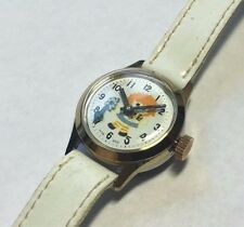Vintage NOS 1960's Wotania Swiss Mechanical Little Girl & Moving Flower Watch