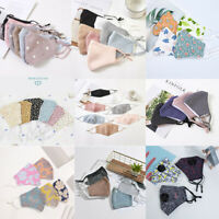 Cotton Face Mask Adjustable Mask Double Layered Washable Reusable Adult Unisex