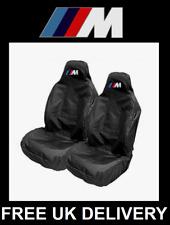 BMW M-SPORT Black Sports Car Seat Covers Protectors x2 / M2 M3 M4 M5 M6 X5 X6 X3