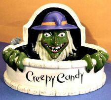 Department 56 Halloween Creepy Candy Fountain Dish of Wicked Witch with Rat New