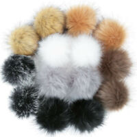 DIY Faux Fur Fluffy Pompom Ball for Hats Shoes Scarves Keychains Bag Charms