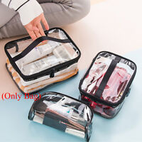 Portable Clear PVC Travel Zipper Wash Bag Holder Pouch Case Makeup Bags
