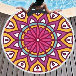 3D Purple Petals ZHUB1443 Summer Plush Fleece Blanket Picnic Beach Towel Zoe
