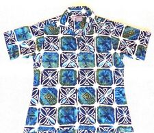 Short Sleeve Shirt Point Zero Casual Vital Cycle Floral Design Size M Pre Owned