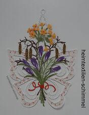 PLAUENER SPITZE ® Fensterbild SCHMETTERLING Frühling BLUMEN Fensterdeko SOMMER
