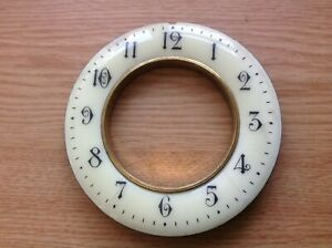 Antique Vienna Style Clock Dial Enamel Chapter Ring Arabic Numerals dia. 100mm