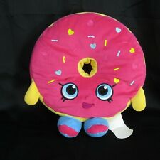 Shopkins Extra Large 15 inch D'Lish Donut Plush Licensed Stuffed Toy 2013 Pink