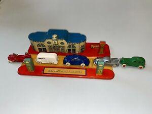 1930s MARX GAS STATION - TIN LITHO - BLUEBIRD GARAGE - GREAT FOR SLUSH VEHICLES