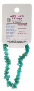 Amazonite Crystal Chip Elastic Horoscope Bracelet - Star Sign Virgo