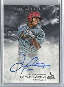 Oscar Taveras Cardinals 2013 Bowman Inception Rookie Card rC Auto Signed QTY