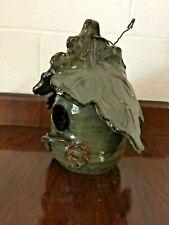 Vintage Bird House Artisan Pottery
