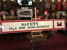 "6 Foot Porcelain JOB SAFETY Sign ""Watch Video"""