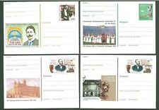 Stationery An12 Postal card Germany 1996/97 Mucic Mail (4 pcs) Under face
