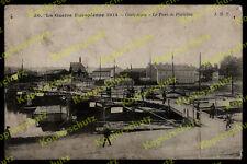 AK Compiégne pont péniches Depot Lerouge pont bateaux de navigation intérieure OISE picardie 1914