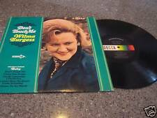 """Wilma Burgess """"Don't Touch Me"""" LP"""