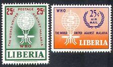 Liberia 1962 Malaria/Medical/Mosquito/Insects/Health/Welfare 2v set (n39843)