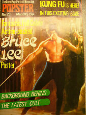 VINTAGE POPSTER MAGAZINE BRUCE LEE POSTER / KUNG FU IS HERE issue 23 1974