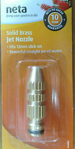 Neta 12mm Solid Brass Hose End Jet Nozzle High Pressure