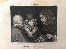 LA LEZIONE DI CANTO L. LOTTO - Galerie de musée Napoléon J. Lavallée 1804-1815