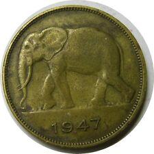 elf Belgian Congo 5 Francs 1947 African Elephant