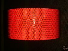 2M X 50MM ORAFOL HIGH INTENSITY REFLECTIVE TAPE RED SELF ADHESIVE VINYL HI VIZ