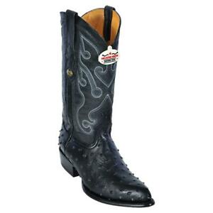 Men's Los Altos Ostrich Print Leather Cowboy Western Boots J Toe