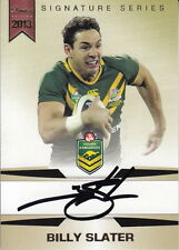NRL - 2013 Rugby Trading Card Collection Signature Set ~ Billy Slater #/167