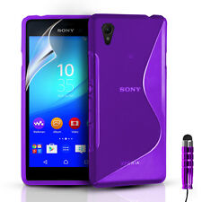 S-LINE SILICONE GEL CASE COVER & FREE SCREEN PROTECTOR FOR SONY XPERIA Z3+ PLUS