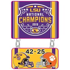 Official 2019 College Football National Champions Collectible Pin Lsu Tigers