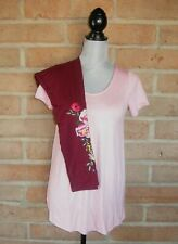 NEW Agnes and & Dora Outfit Everyday Tee & Embroidered Leggings Womens XS