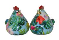 Pomme Pidou Salz & Pfeffer Streuer Huhn Matilda Keramik türkis tropisch