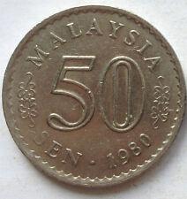 Malaysia 50 sen 1980 coin