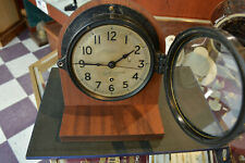 WWII Era Chelsea Clock Co. Boston Ship Clock U.S. Maritime Commission Working.