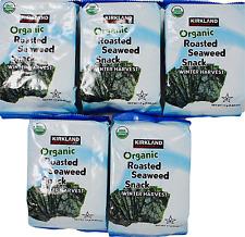 Kirkland Signature Organic Roasted Seaweed Snack Winter Harvest, 17 Gram Packs