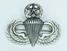 Scarce Robbins Co U.S Army Master Jump Wing Parachutist Badge Sterling post WWII