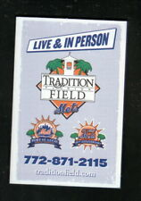 St Lucie Mets--2008 Pocket Schedule--with Mets Spring Training--Budweiser