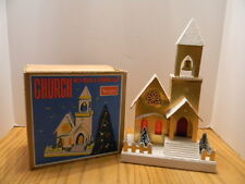 SEARS VINTAGE CHRISTMAS CHURCH WITH MUSIC & BLINKING LIGHT