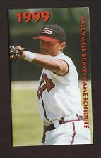 Greenville Braves--1999 Pocket Schedule--WESC