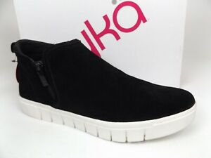 Ryka Women's Hensley Sneakers Mid Top Side Zipper Shoes Size 9.5 M, Black Suede