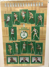 BOSTON CELTICS 1985-86 WORLD CHAMPIONS POSTER