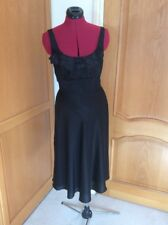 MONSOON.  SILK. BLEND. BLACK DRESS.  SIZE 8   SEQUIN DETAILING. SPECIAL OCCASION