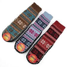 Kuguo Women Knitted Non Slipper Floor Socks with Non Skid Bottom Socks 3 Pairs