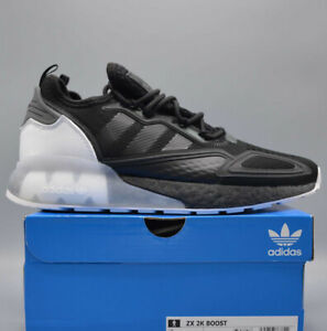 🚨 Adidas ZX 2K Boost Men's Athletic Shoe Black White Running Sneaker Trainers