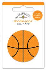 Doodlebug Design SLAM DUNK Basketball Doodle-pops Sticker 4768